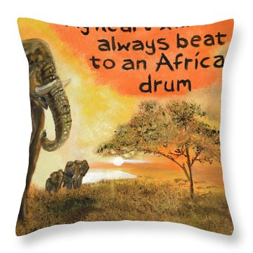 Throw Pillow featuring the painting Out Of Africa by The GYPSY And DEBBIE