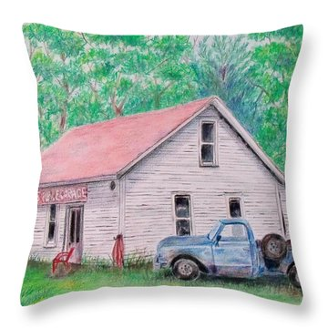 Out Of Business Throw Pillow