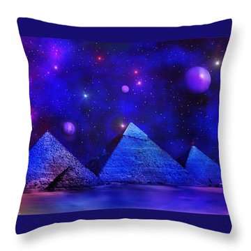 Out Of Eternity Throw Pillow by Bernd Hau