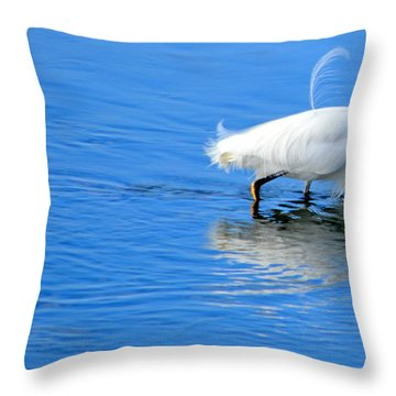 Throw Pillow featuring the photograph Out Of Place by AJ Schibig
