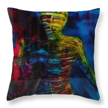 Out Of The Blue Throw Pillow by Albert Kutzelnig