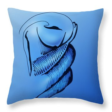 Throw Pillow featuring the drawing Out Of The Blue Aventurine by Keith A Link