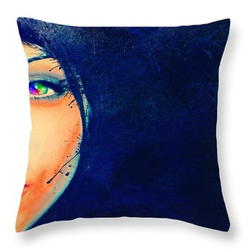 Throw Pillow featuring the painting Out Of The Blue by Mark Taylor
