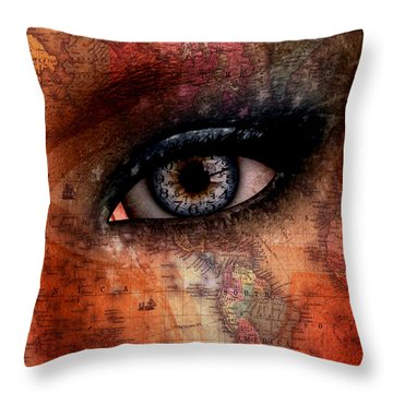 Out Of The Country Throw Pillow