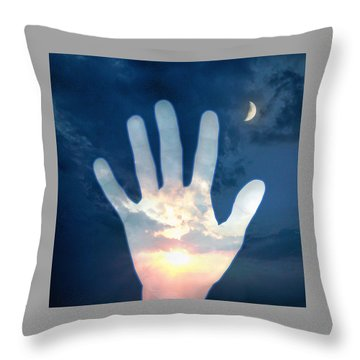 Out Of The Darkness...into The Light Throw Pillow