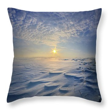 Throw Pillow featuring the photograph Out Of The East by Phil Koch