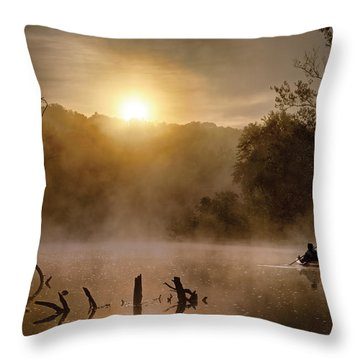Out Of The Gloom Throw Pillow by Robert Charity