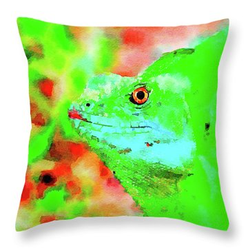 Out Of The Green Throw Pillow