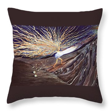 Out Of The Miry Clay Throw Pillow