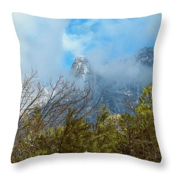 Throw Pillow featuring the photograph Out Of The Mist by Glenn McCarthy Art and Photography