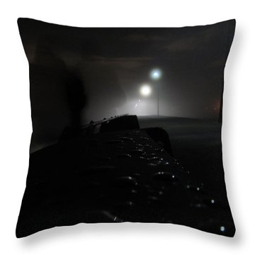 Throw Pillow featuring the photograph Out Of The Mist by Digital Art Cafe