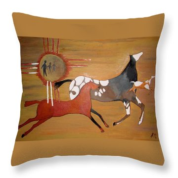 Out Of The Past Throw Pillow by Stephanie Moore
