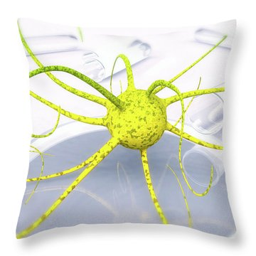 Out Of The Petri Dish... Throw Pillow