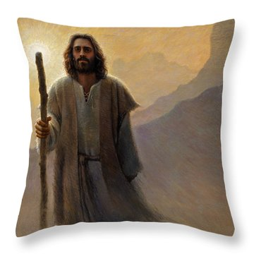 Throw Pillow featuring the painting Out Of The Wilderness by Greg Olsen