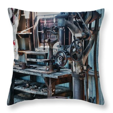 Out Of Work Throw Pillow by Sandra Bronstein