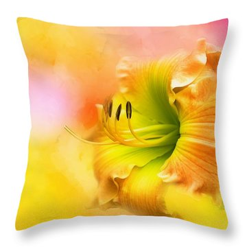 Out Of Yellow Throw Pillow