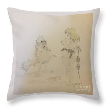 Out Of Your League  Throw Pillow