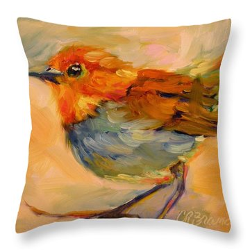 Throw Pillow featuring the painting Out On A Limb by Chris Brandley