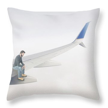 Throw Pillow featuring the photograph Out On A Wing Surreal by Edward Fielding