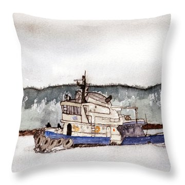 Out On The Bay Throw Pillow by R Kyllo