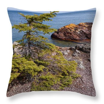 Throw Pillow featuring the photograph Out On The Edge #2 by Sandra Updyke