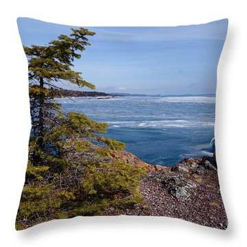 Throw Pillow featuring the photograph Out On The Edge by Sandra Updyke