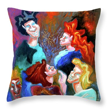 Throw Pillow featuring the painting Out On The Town by Genevieve Esson
