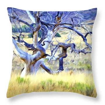 Out Standing In My Field Throw Pillow by James Steele