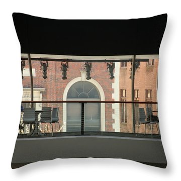 Throw Pillow featuring the photograph Out The Windows by Emanuel Tanjala