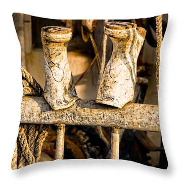 Out To Dry Throw Pillow by Christopher Holmes