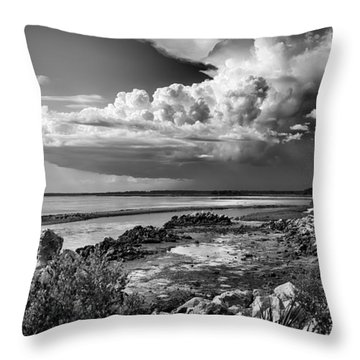Throw Pillow featuring the photograph Out To Sea by Howard Salmon