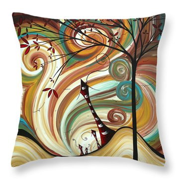 Out West II By Madart Throw Pillow by Megan Duncanson
