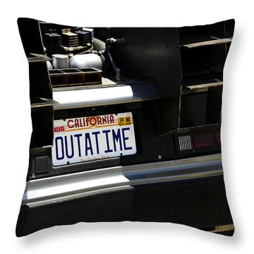 Outatime Throw Pillow