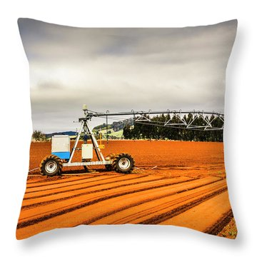 Outback Australia Agriculture Throw Pillow
