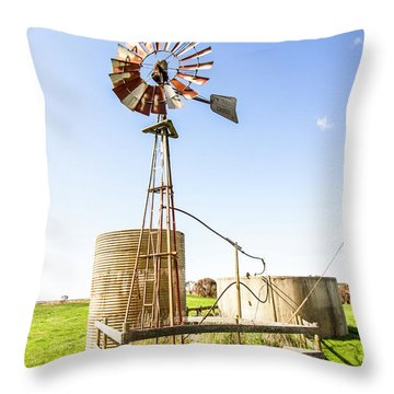Outback Australian Farm Mill Throw Pillow