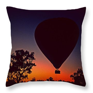 Outback Balloon Launch Throw Pillow