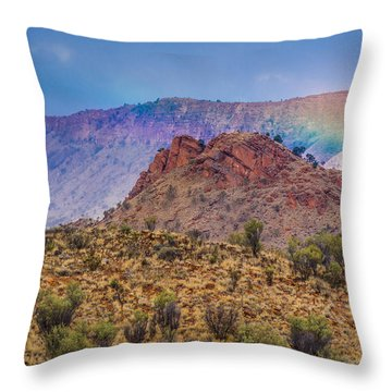 Outback Rainbow Throw Pillow