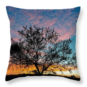 Outback Sunset Pano Throw Pillow