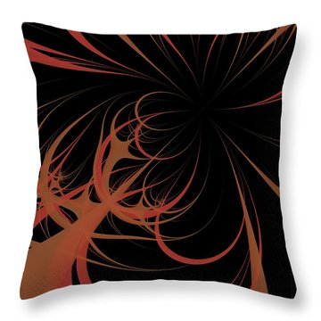 Throw Pillow featuring the digital art Outbreak by Dragica  Micki Fortuna