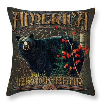 Outdoor Bear Throw Pillow