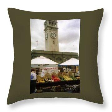 Outdoor Farmers Market Throw Pillow