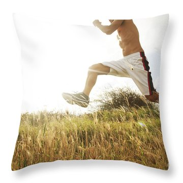 Outdoor Jogging IIi Throw Pillow by Brandon Tabiolo - Printscapes