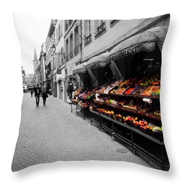 Outdoor Market Throw Pillow