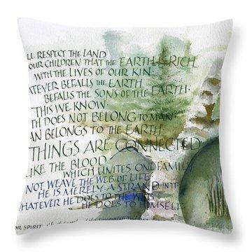 Outdoor Spirit Throw Pillow by Judy Dodds