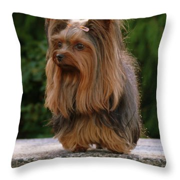 Outdoors Girl Throw Pillow
