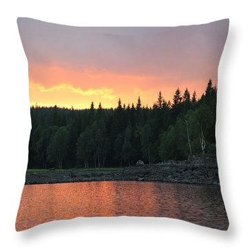Outdoors In Norway.  Throw Pillow