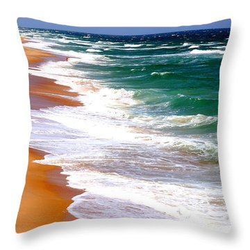 Outer Banks Beach North Carolina Throw Pillow