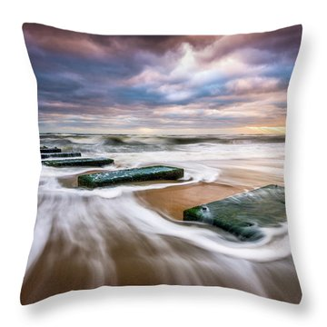 Outer Banks North Carolina Beach Sunrise Seascape Photography Obx Nags Head Nc Throw Pillow
