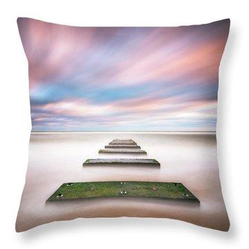Outer Banks North Carolina Seascape Nags Head Nc Throw Pillow