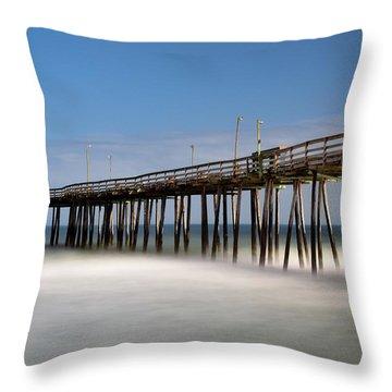 Outer Banks Pier Throw Pillow